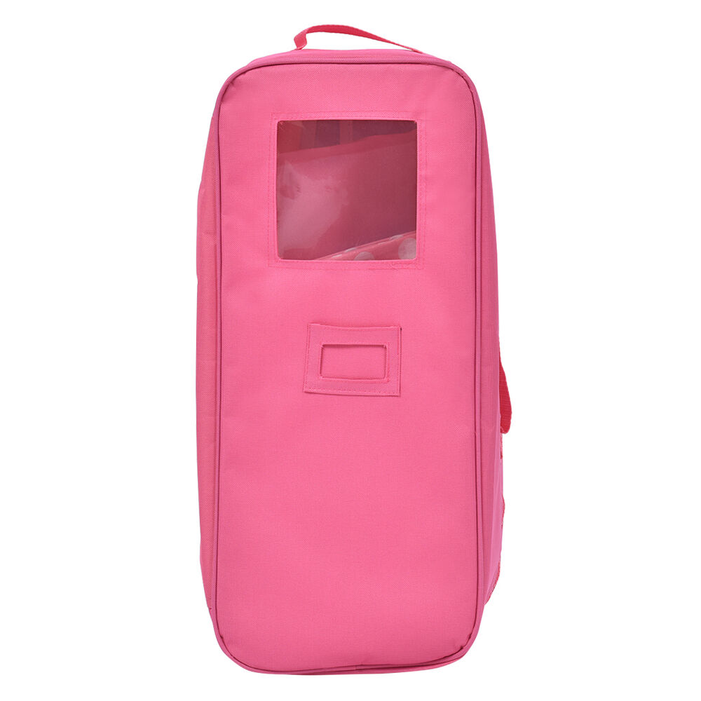 18 inch doll travel carrier case with bed and bedding