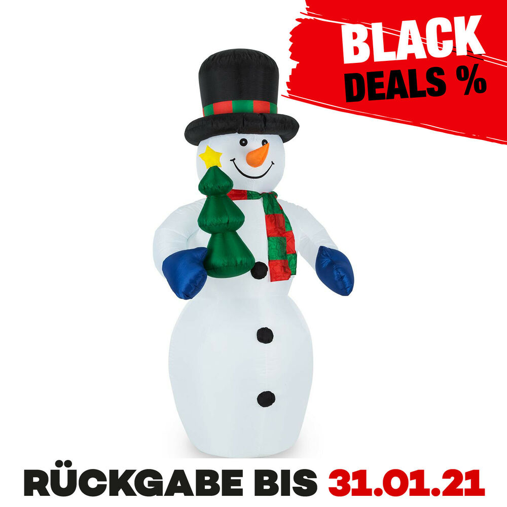 au endeko selbstaufblasender schneemann leds beleuchtet aussen xxl 240 cm neu ebay. Black Bedroom Furniture Sets. Home Design Ideas