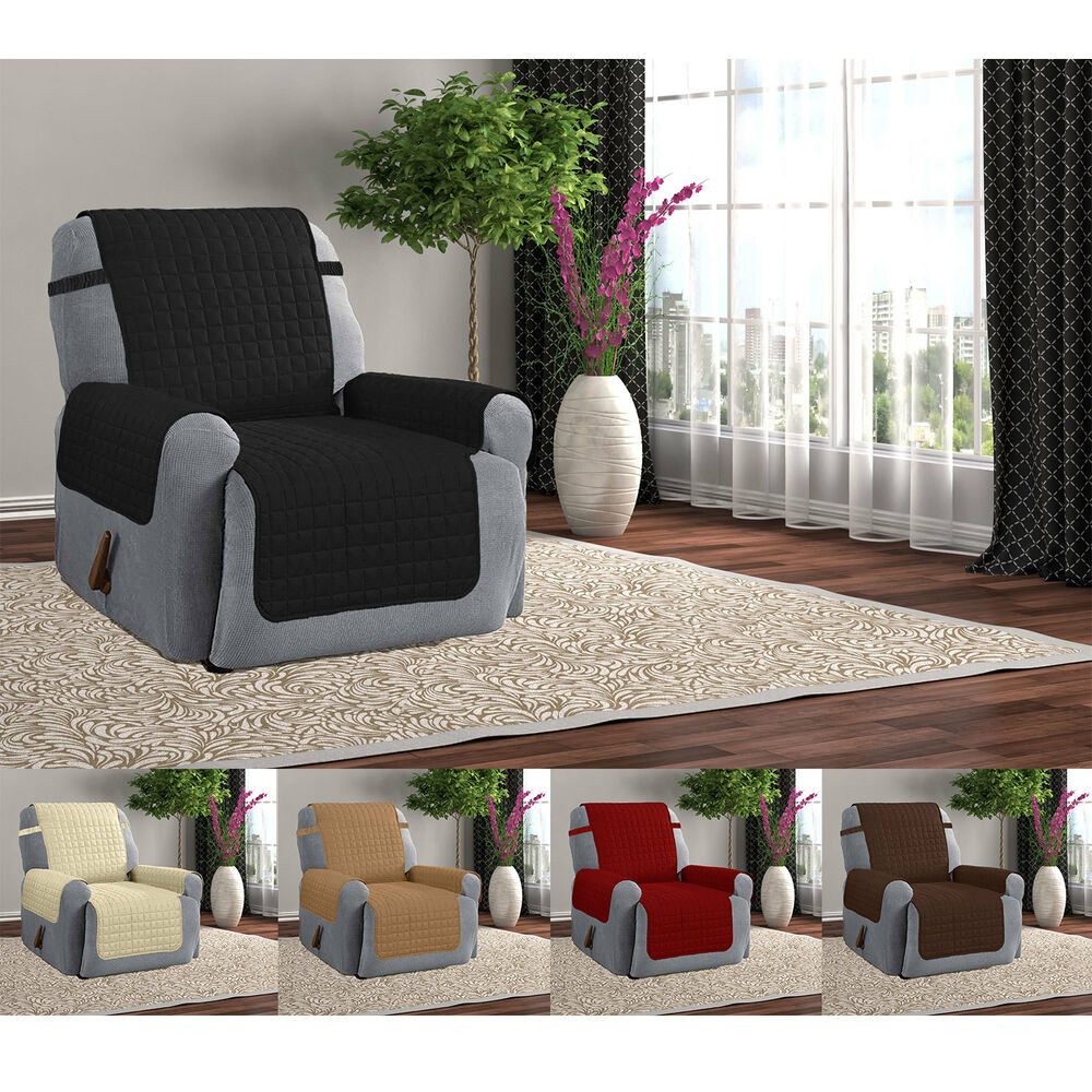 Quilted Microfiber Furniture Recliner Pet Protector Cover
