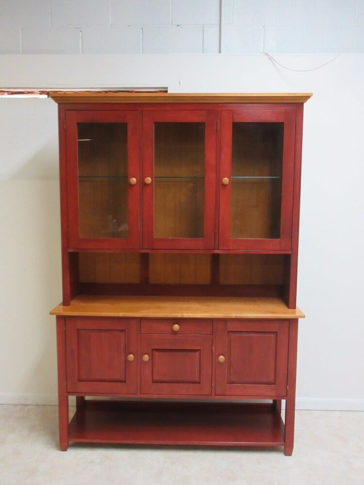 Ethan Allen Country Colors China Cabinet Hutch Display