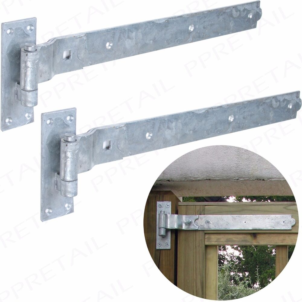 Cranked Hook Amp Band Hinges 600mm 24 Quot Galvanised Pair Heavy
