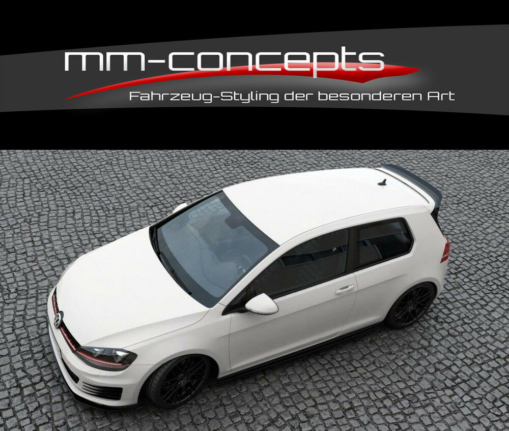 cup dachspoiler ansatz carbon f r vw golf 7 gti clubsport. Black Bedroom Furniture Sets. Home Design Ideas