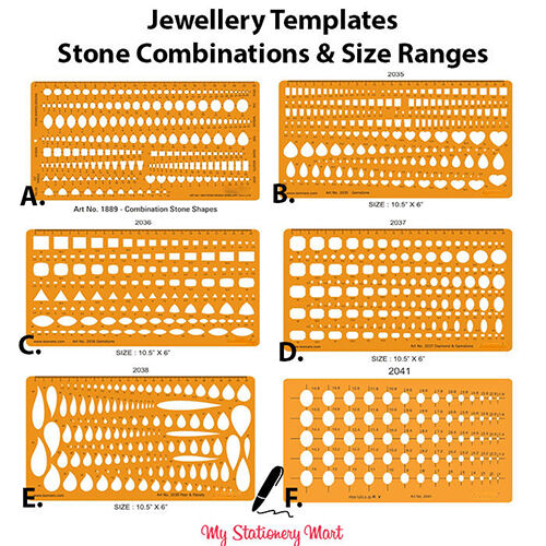 jewellery design drawing drafting template stencil stone