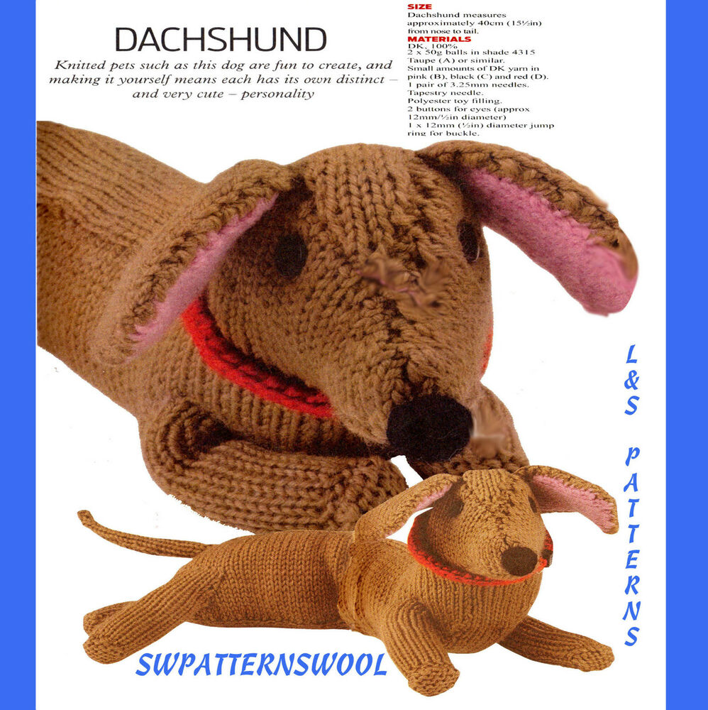 Knitting Patterns For Sausage Dogs : 15.5