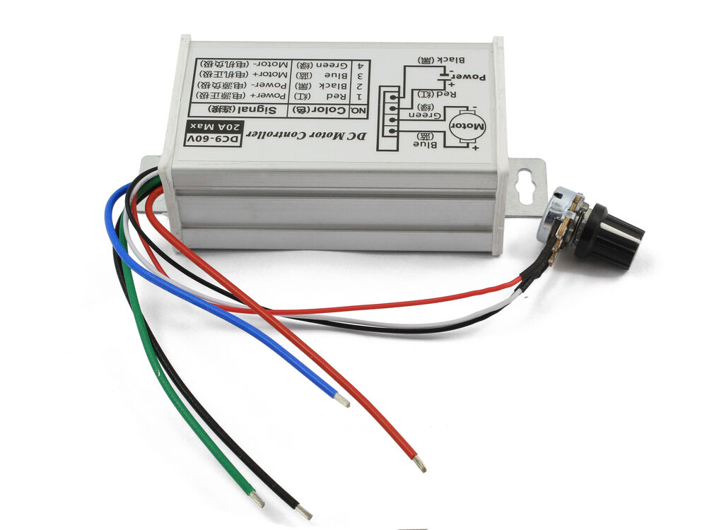 9 60v Max 20a Pwm Dc Motor Stepless Variable Speed