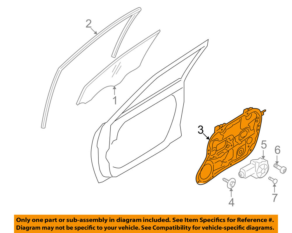 Hyundai Oem 09 12 Elantra Front Door Window Lift Regulator Wiring Diagram Gmc Truck Coloring Pages 1960 Ford 824712l001 Ebay