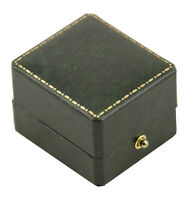 Lot of 10 x Green Antique Leatherette Style Ring Boxes (AQ-1RGRN)Jewellery Shop