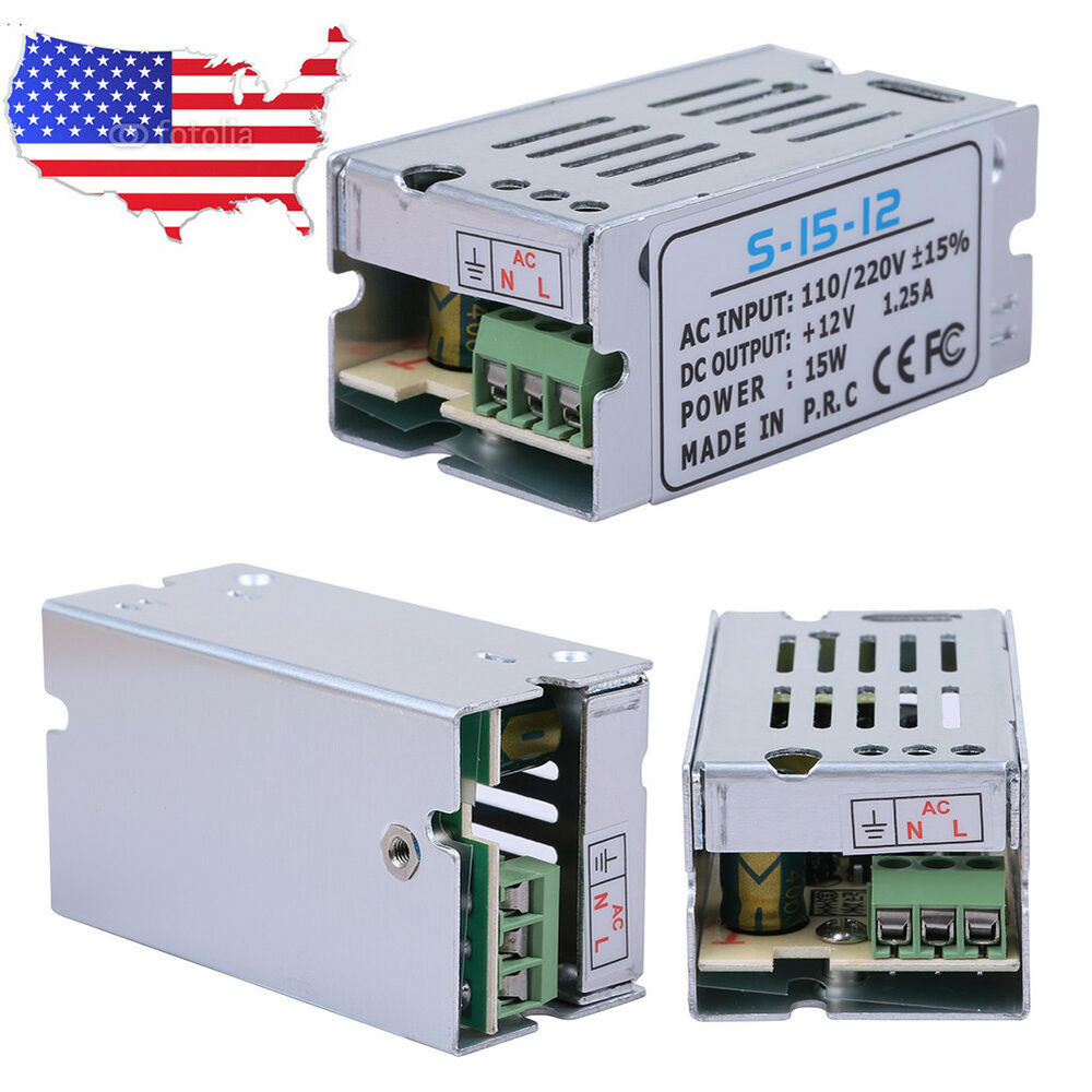 DC 12V 1.25A Universal Regulated Switching Power Supply