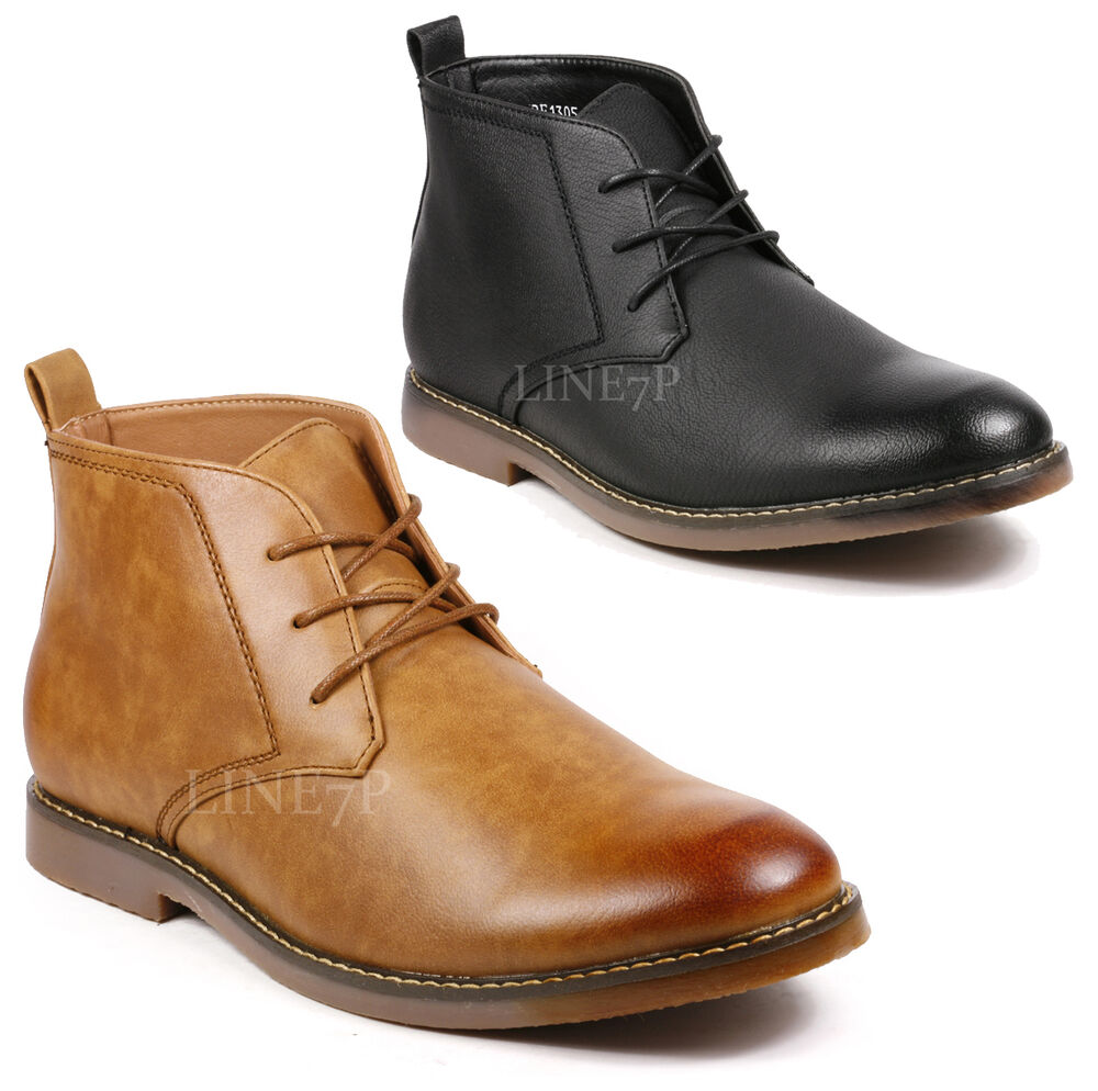 s lace up casual fashion ankle chukka boots ebay