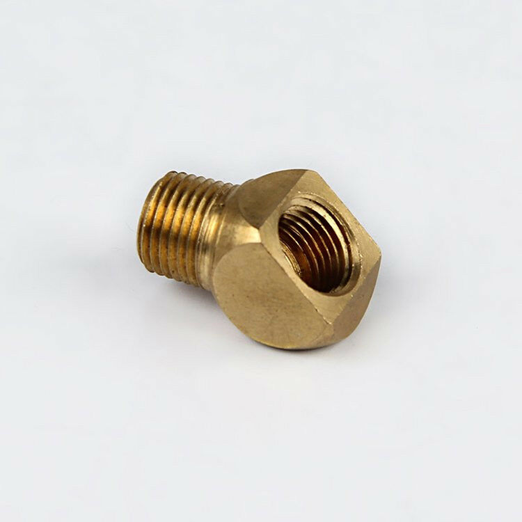 Npt female to male deg coupling brass pipe fitting