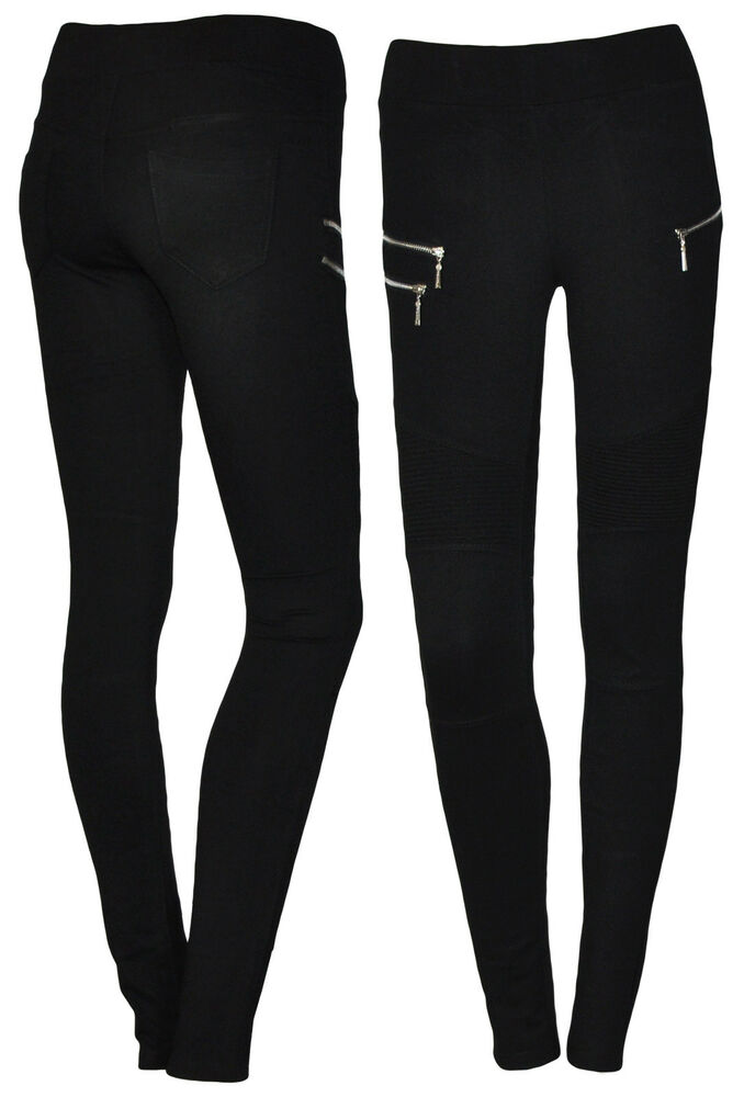 stretch biker hose damenhose damen treggings r hre hose. Black Bedroom Furniture Sets. Home Design Ideas