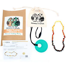 Baltic Amber Necklace GIFT SET - Teeth Pain Relief (Unisex - Rainbow - 12.5