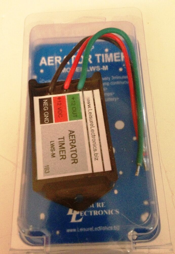 Boat Aerator Livewell Timer  30 Seconds X 3 Minutes  10