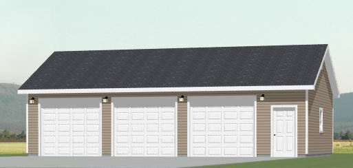 40x24 3 car garage 960 sq ft pdf floor plan model 24 x 28 garage plans free