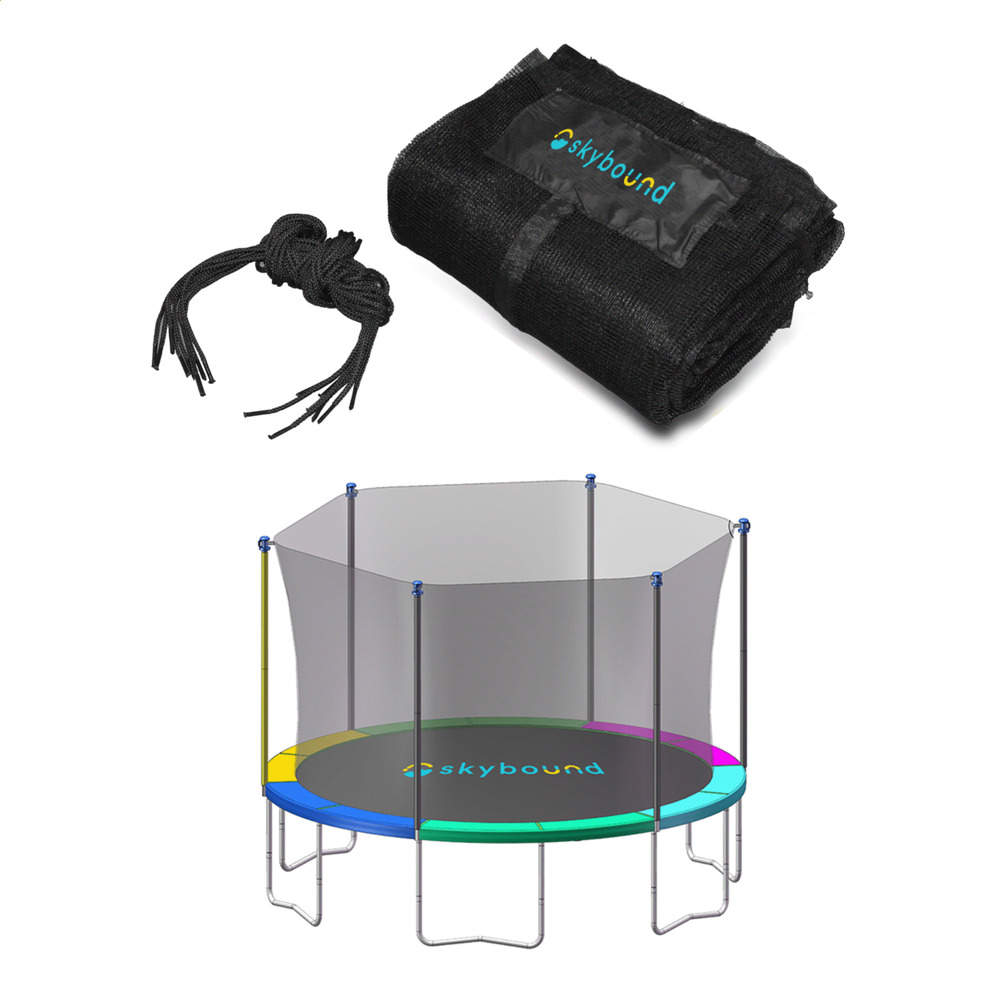 Jumpsport Elite 14 Ft Powerbounce Trampoline With: SkyBound 14ft Trampoline Net For JumpZone Trampolines