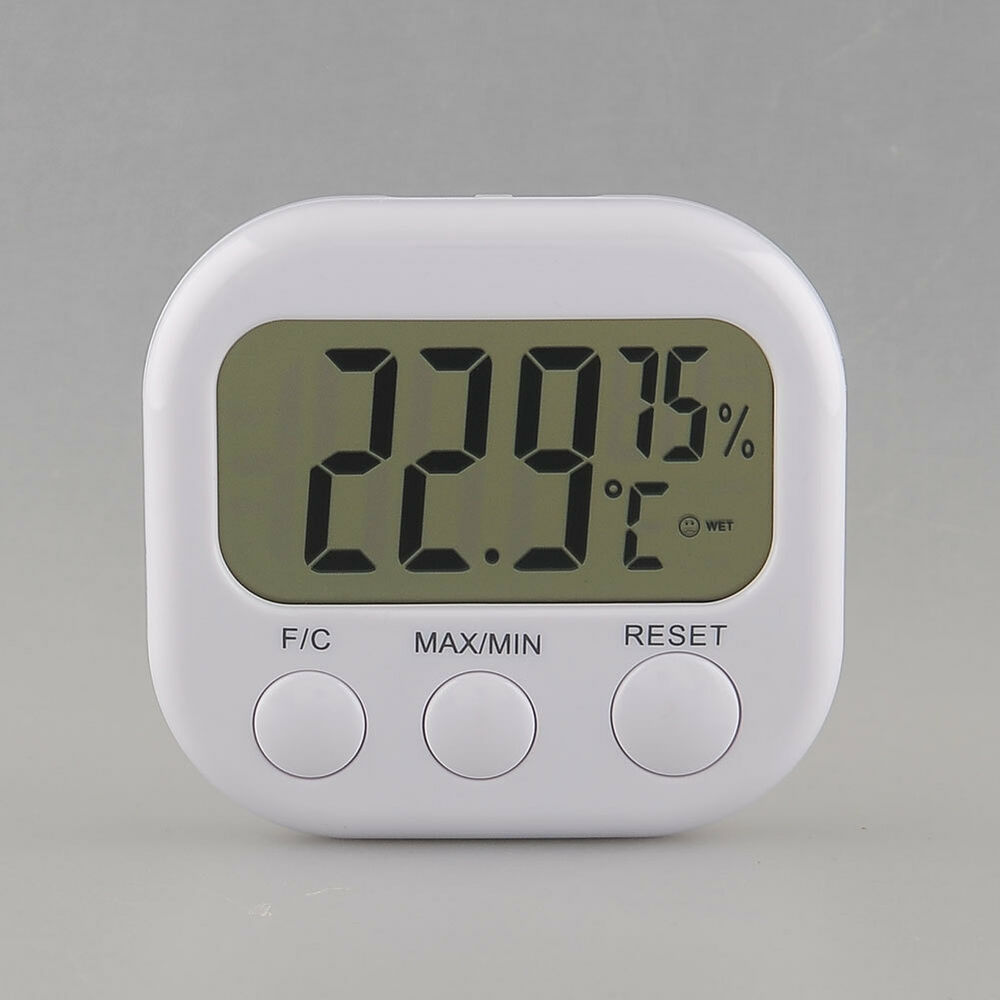 digital lcd innen au en thermometer hygrometer temperatur luftfeuchtigkeit ta668 ebay. Black Bedroom Furniture Sets. Home Design Ideas
