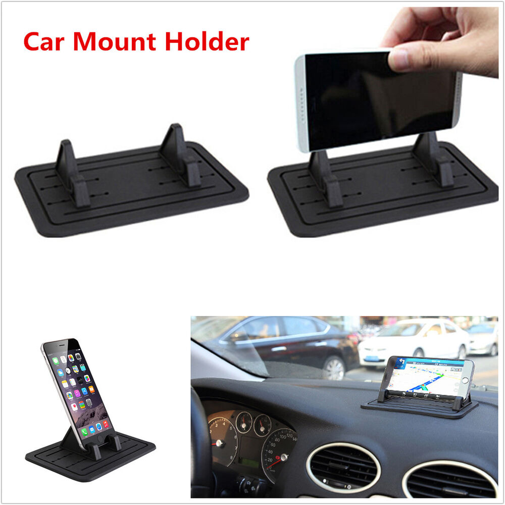Car dashboard cellphone mount holder cradle silicon non slip pad for iphone gps ebay - Notepad holder for car ...