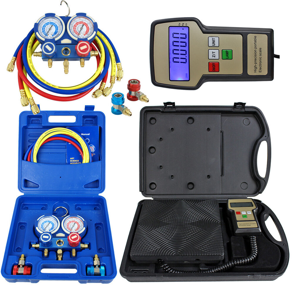 Deluxe Manifold Gauge Set R134a R410a R22 Amp Electronic