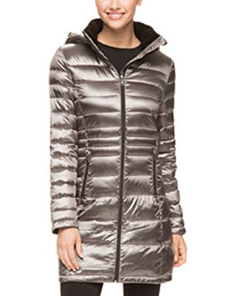 Andrew Marc Women's Packable Lightweight Down Hooded Long ...