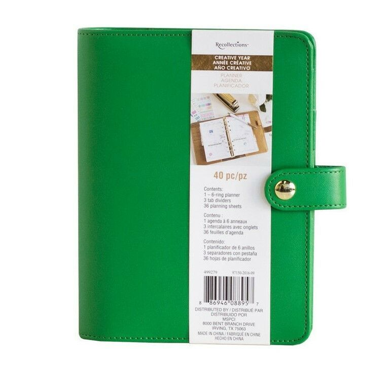 NEW Recollections 40 Pc Personal Planner Ring Binder A6