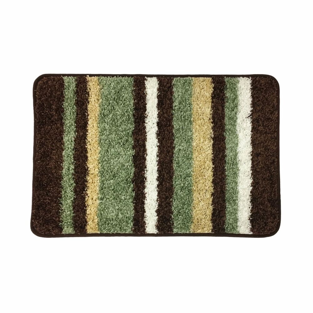 Abby Stripe Bath Rug Bathroom Floor Mat 20 Quot X32 Quot Rubber
