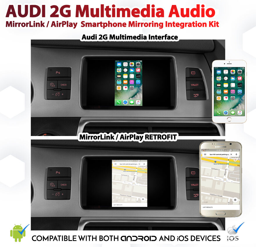 Audi A6 C6 2g Mmi Android Ios Airplay Mirrorlink Google Gps App Map Install Kit Ebay