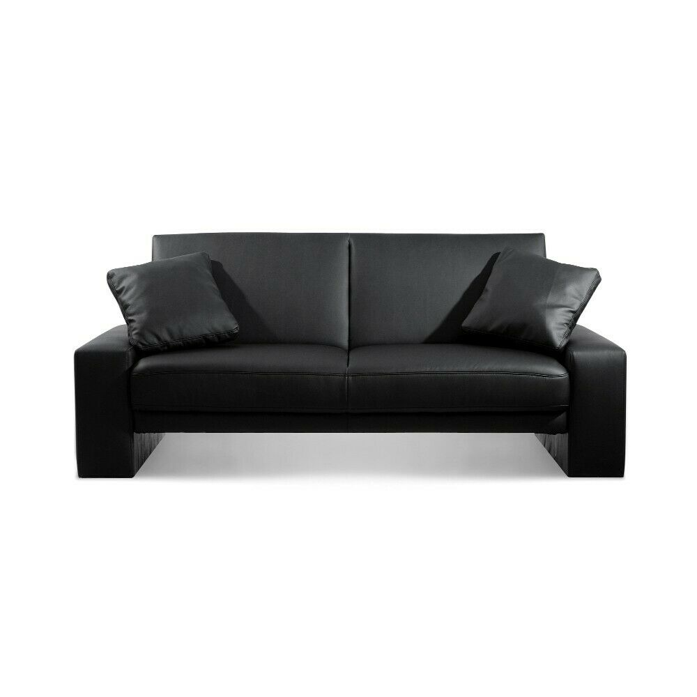 Black Leather Sofa Bed Ebay: Supra Faux Leather Guest Sofa Bed In Black Or Brown Large