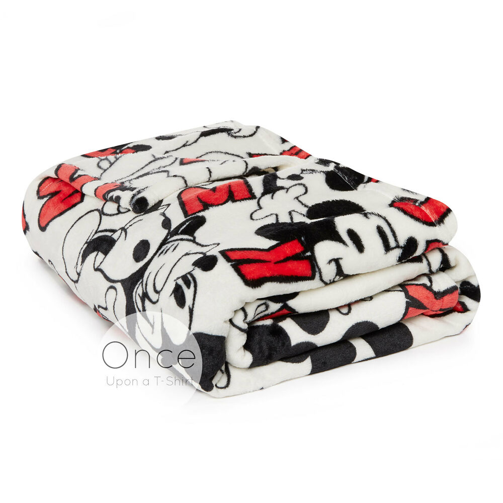 Disney Mickey Mouse Soft Cosy Sherpa Throw Blanket From