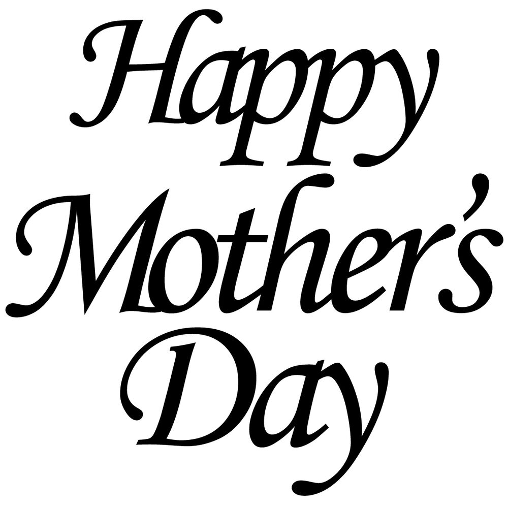 Happy Mothers Day Glass Sticker Vinyl Gold Silver White