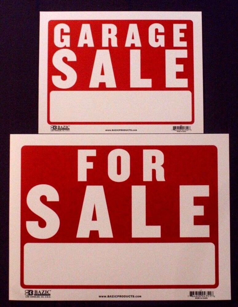A3 large for sale a4 garage sale house wall sign plastic for Large garage for sale
