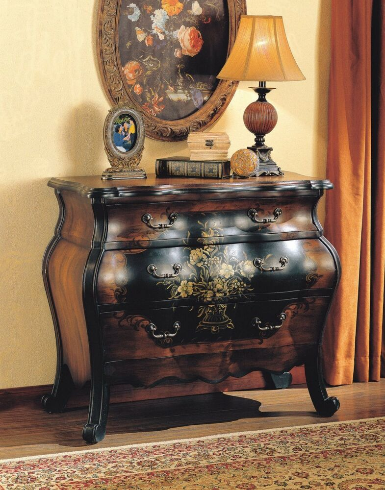 Bombay dresser chest of drawers bombe two tone bedroom - Black chest of drawers for bedroom ...