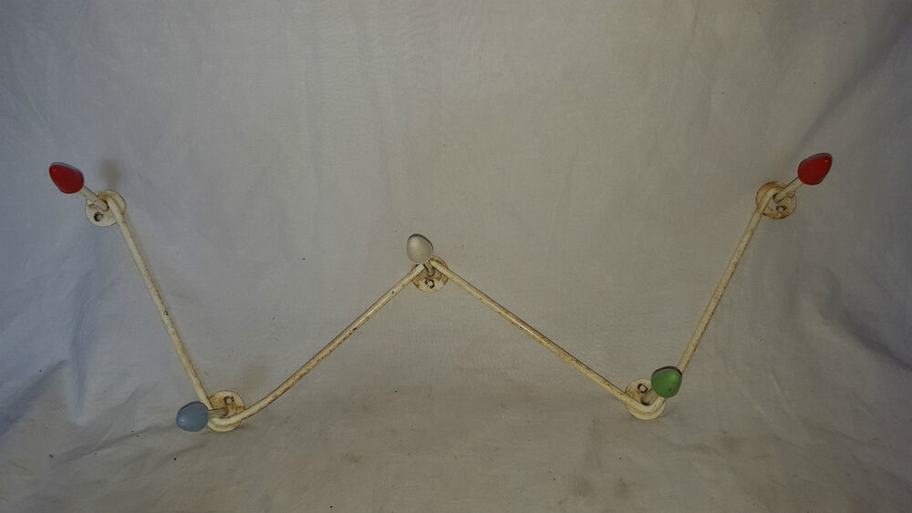 atomic wall mounted coat hooks stand kitsch funky rack display ebay