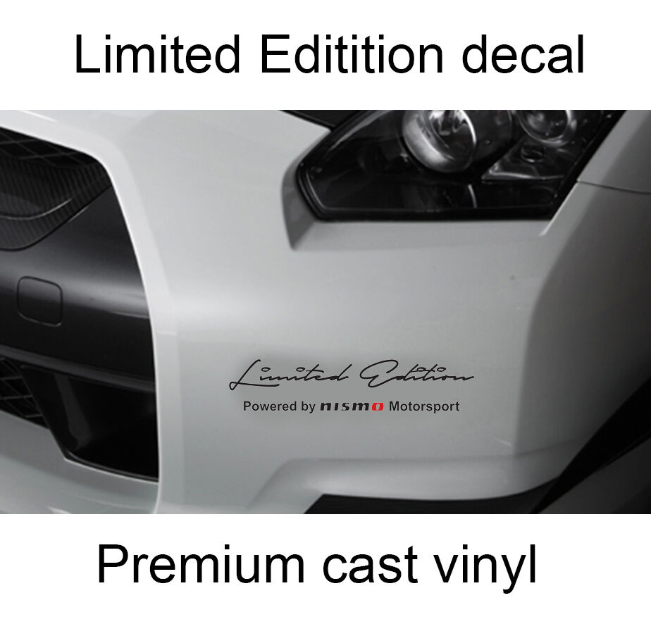 Set of 2 x Limited edition Nismo body side hood Decal ...