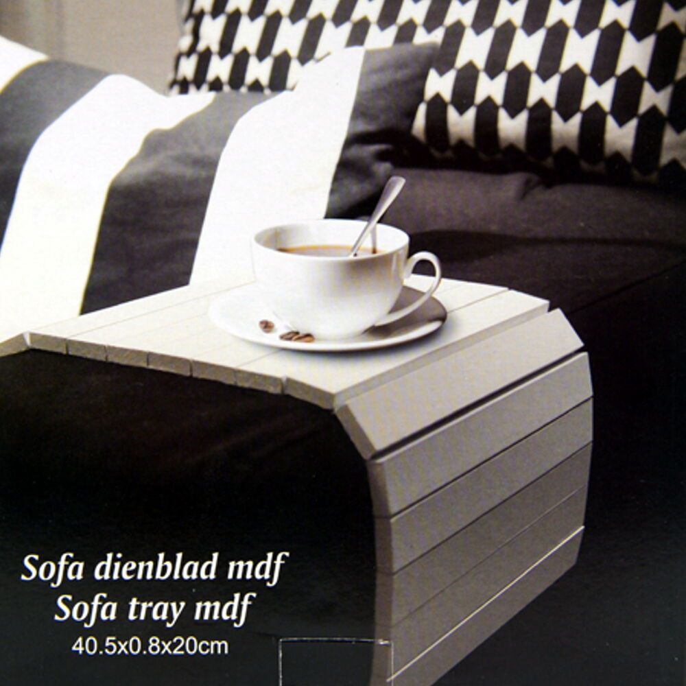 2 farben sofatablett mdf flexablage tablett ablage. Black Bedroom Furniture Sets. Home Design Ideas