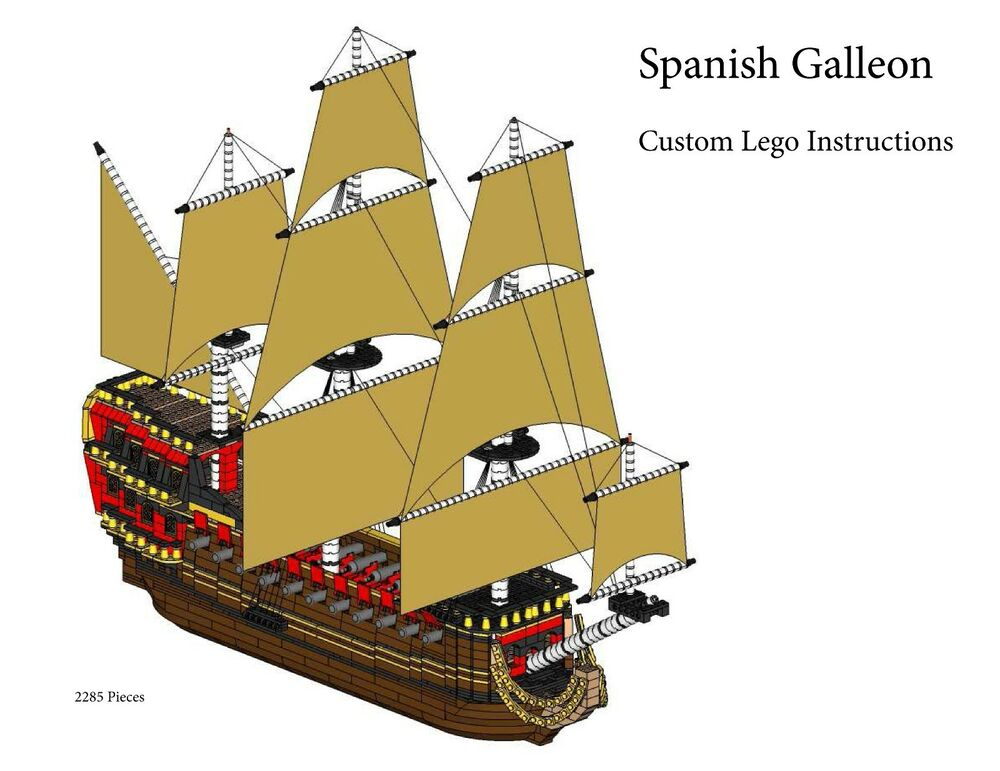 Spanish Galleon Custom Lego Pirate Imperial Armada Instructions