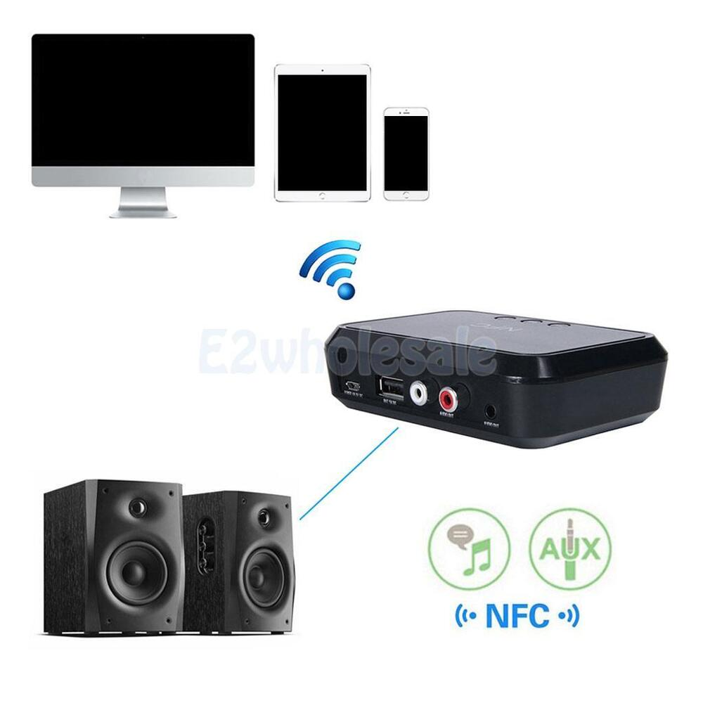NFC Enabled Bluetooth Stereo Receiver For RCA To 3.5mm