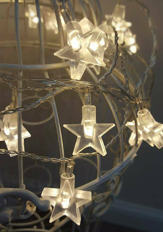 30x warm white led star string lights indoor outdoor