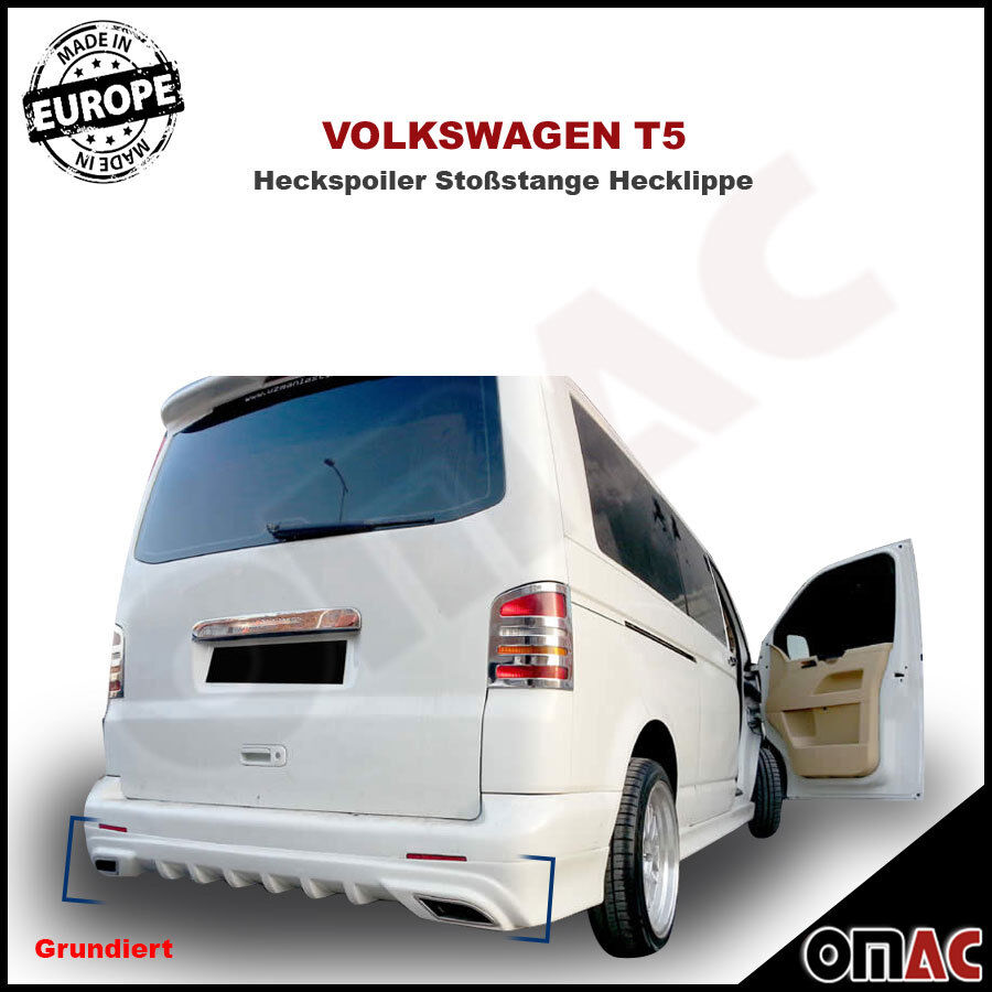 vw t5 2003 2015 heckspoiler sto stange hecklippe spoiler. Black Bedroom Furniture Sets. Home Design Ideas