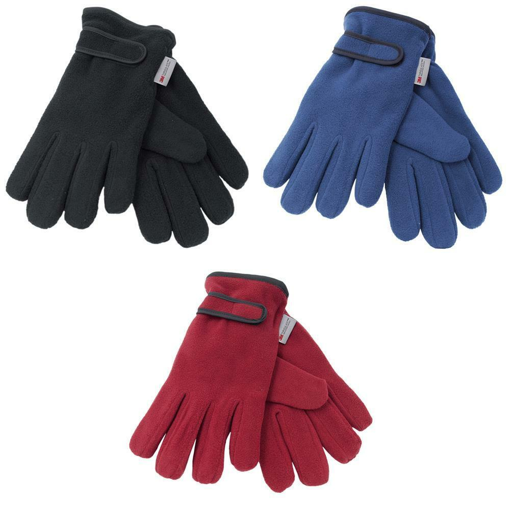 Ladies Womens Soft Polar Fleece Thinsulate Lined Thermal ...