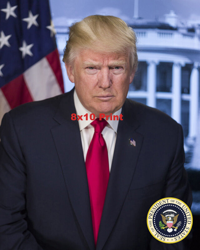 OFFICIAL PORTRAIT OF PRESIDENT DONALD J TRUMP GLOSSY 8x10