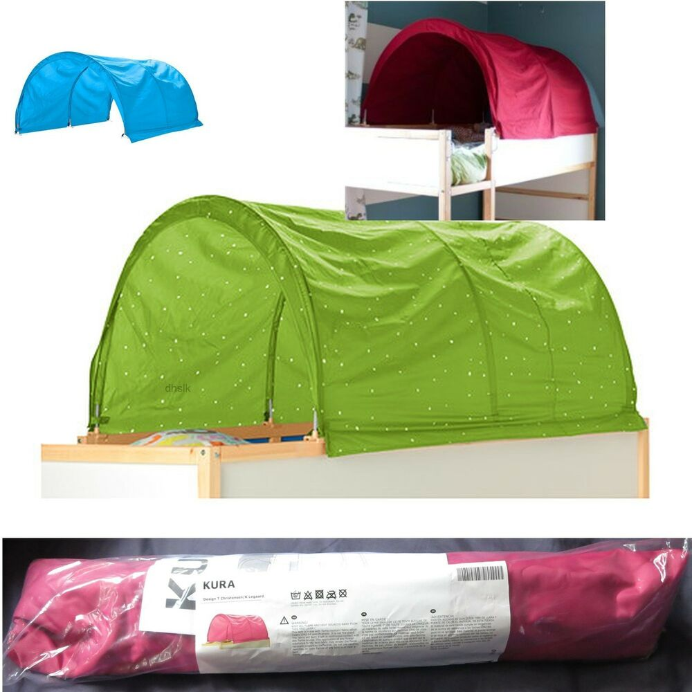 Ikea child 39 s kura bed tent canopy toy green 0r pink 0r Twin bed tent ikea