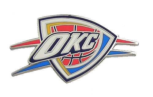 Pin By Hoopsvilla Com On Nba: Oklahoma City Thunder NBA Logo Pin