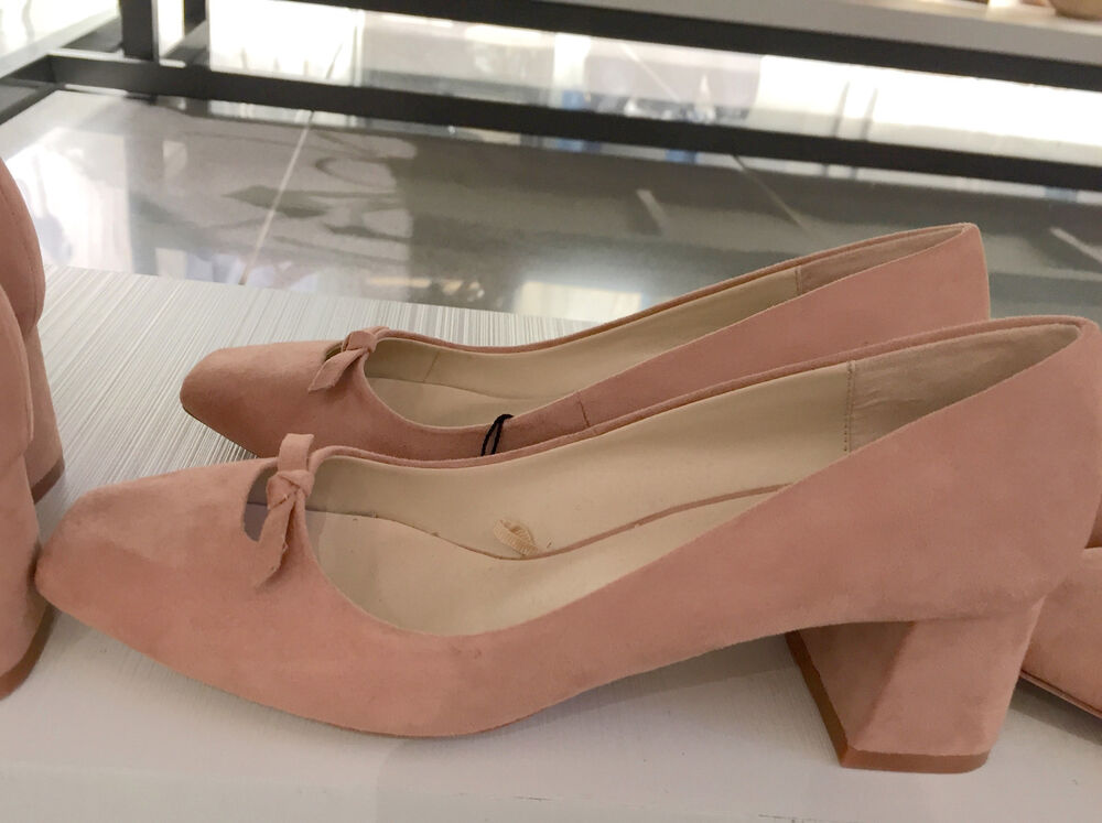 6cec5c2623b ZARA HIGH HEEL SHOES WITH BOW DETAIL PINK 36-41 Ref. 6214 101