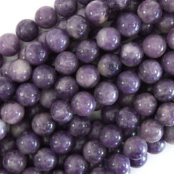 Kyпить Purple Lepidolite Round Beads Gemstone 15.5