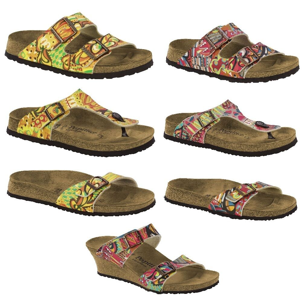 papillio by birkenstock arizona gizeh dorothy african wax sandals womens thongs ebay. Black Bedroom Furniture Sets. Home Design Ideas