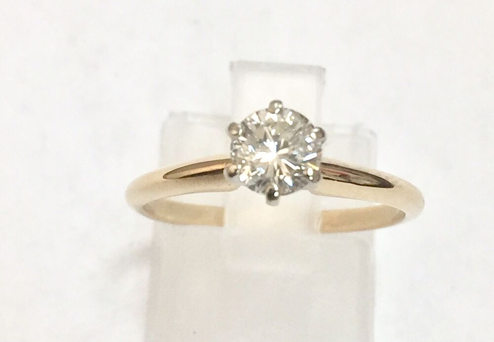 14k solid yellow gold 1 2 carat solitaire
