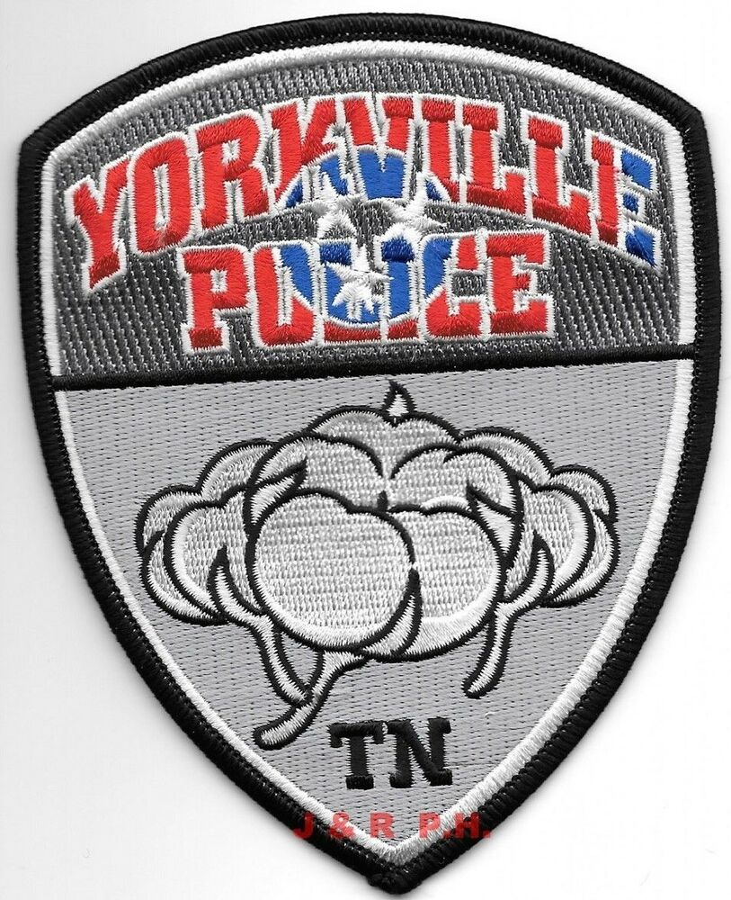 "Yorkville, Tennessee (4"" X 5"" Size) Shoulder Police Patch"