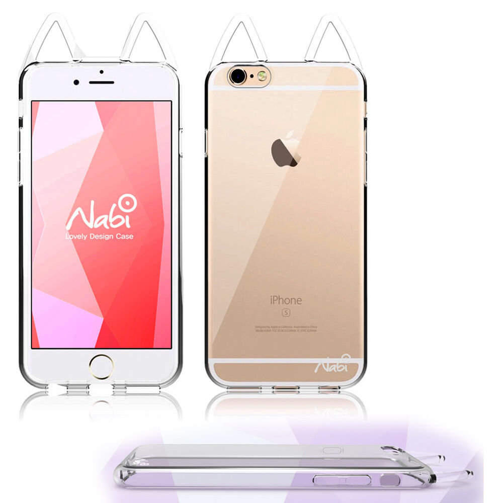 3d iphone cases clear 3d nabi cat back silicone bumper cover for 2207