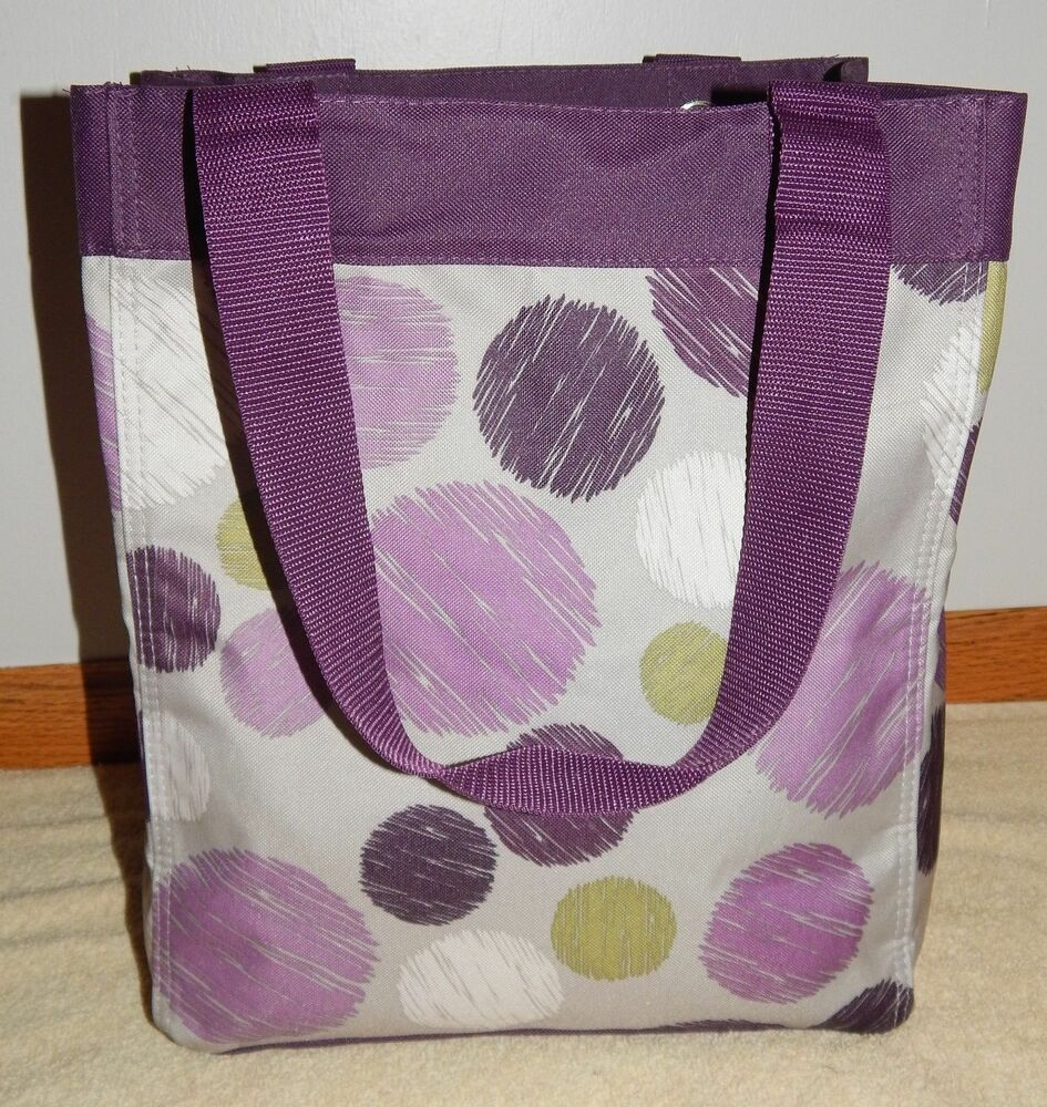 Thirty One Open Top Essential Storage Tote Purple S