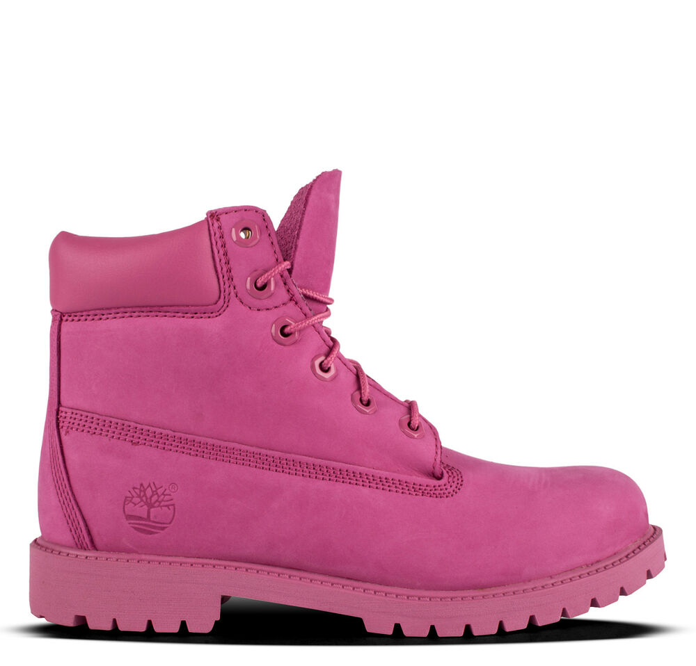 Timberland A148w Girls Youth 6 Quot Premium Pink Waterproof